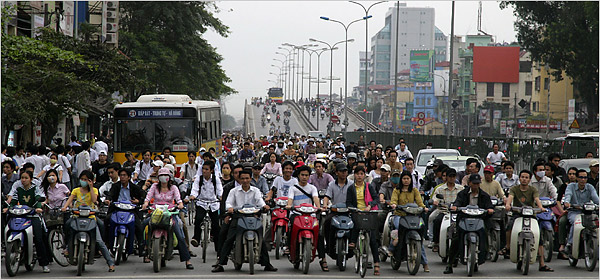 Just a few of the 4 million motor bikes